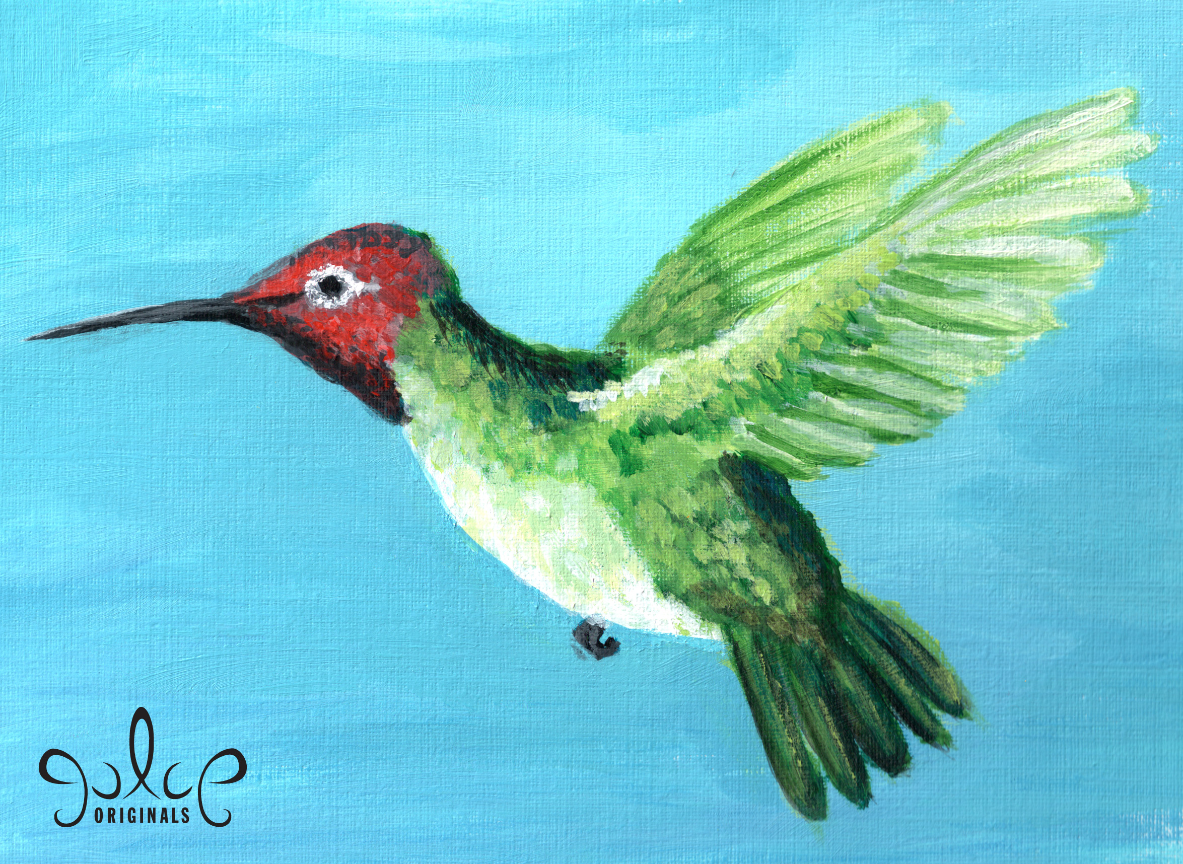 Simple Hummingbird Painting