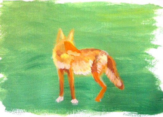 Tucson Coyote Painting Step 2 Julie Originals