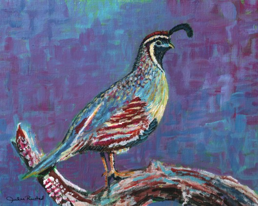 Gambel's Quail - Painting by Julie Originals