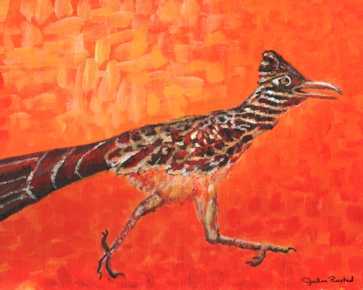 Roadrunner Painting by Julie Originals
