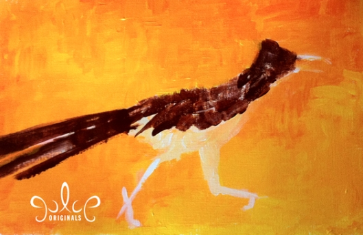 Roadrunner Painting by Julie Originals - Step 2