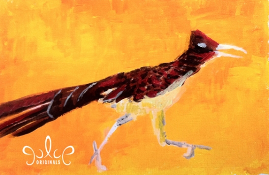 Roadrunner Painting by Julie Originals - Step 3
