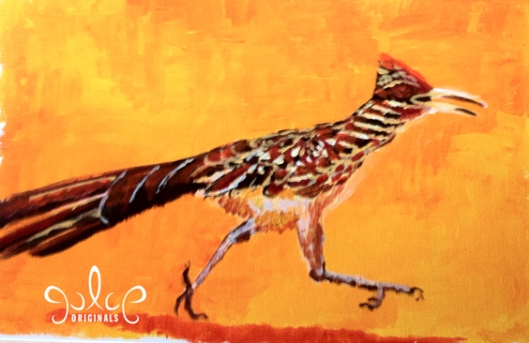 Roadrunner Painting by Julie Originals - Step 4