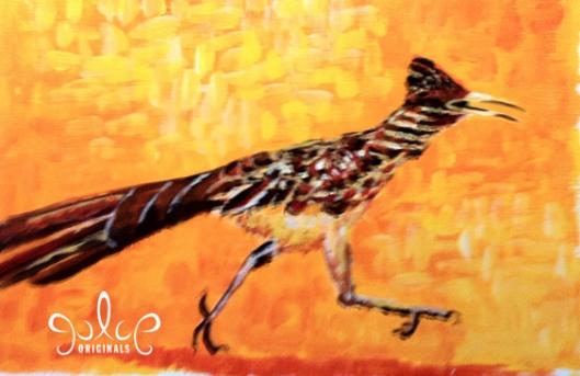 Roadrunner Painting by Julie Originals - Step 5