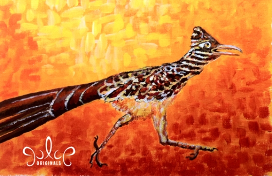 Roadrunner Painting by Julie Originals - Step 6