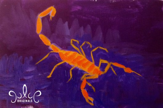 Scorpion Painting by Julie Originals - Step 3