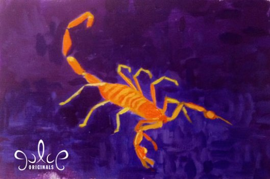 Scorpion Painting by Julie Originals - Step 4