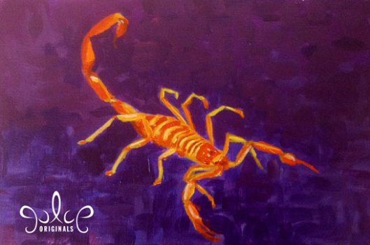 Scorpion Painting by Julie Originals - Step 5