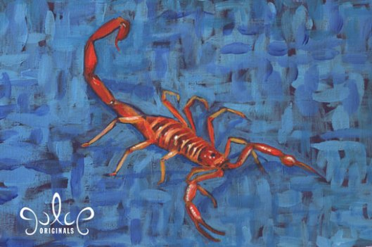Scorpion Painting by Julie Originals - Step 7