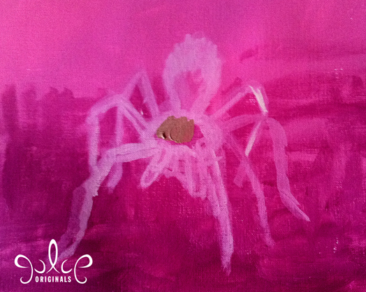 Tarantula Acrylic Painting by Julie Rustad - Step 2