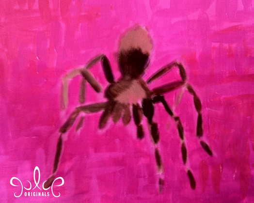 Tarantula Acrylic Painting by Julie Rustad - Step 3