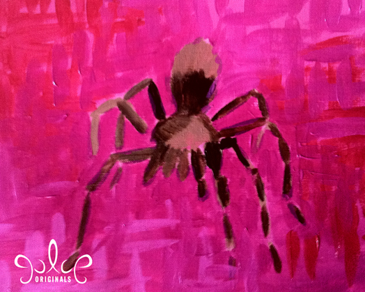 Tarantula Acrylic Painting by Julie Rustad - Step 4