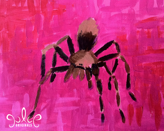 Tarantula Acrylic Painting by Julie Rustad - Step 5