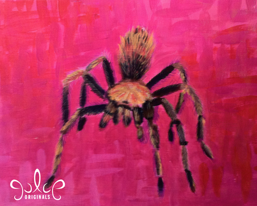 Tarantula Acrylic Painting by Julie Rustad - Step 6