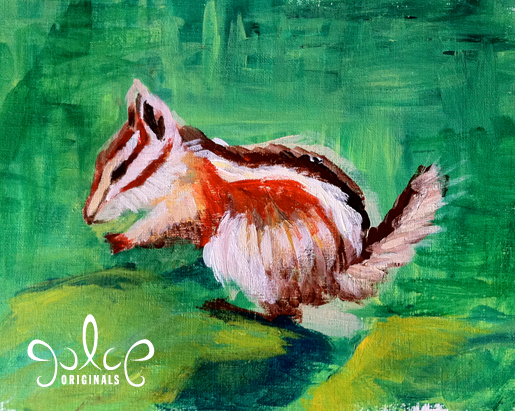 Uinta Chipmunk Step 4 Acrylic Painting by Julie Rustad