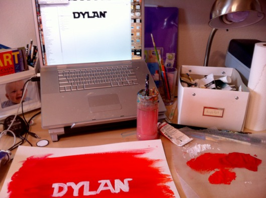 Dylan Painting Step 1 by Julie Rustad