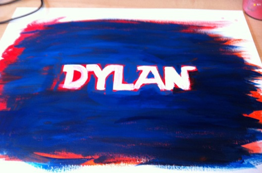 Dylan Painting Step 2 by Julie Rustad