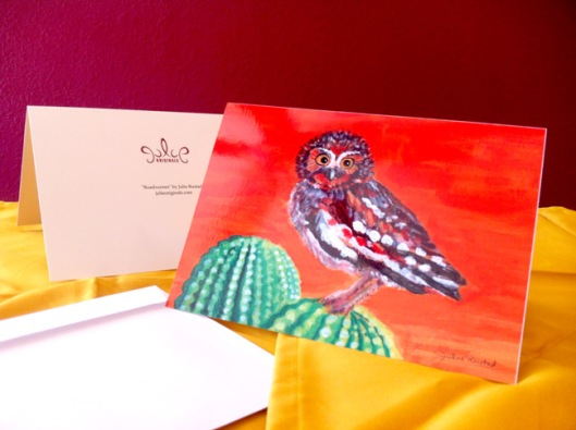 """Elf Owl"" Greeting Card with Envelope by Julie Originals"