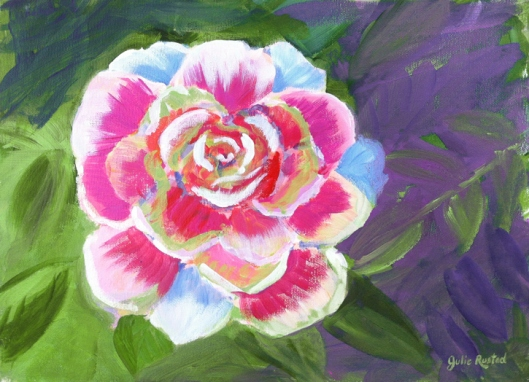 Rose Painting by Julie Rustad