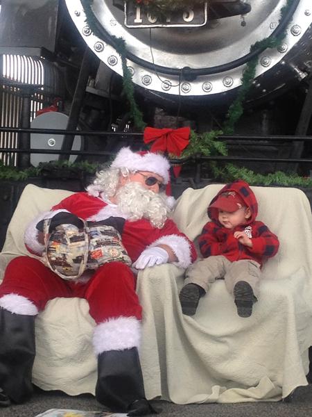 Syver and Santa