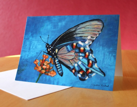 Pipevine Swallowtail Butterfly Greeting Card by Julie Originals