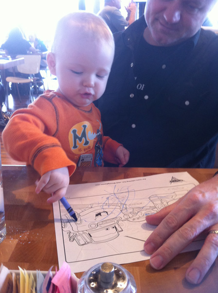 Coloring at Zin Burger