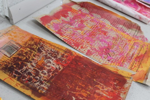 Painting and printing on papers