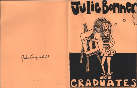 High school graduation announcement by Julie Rustad