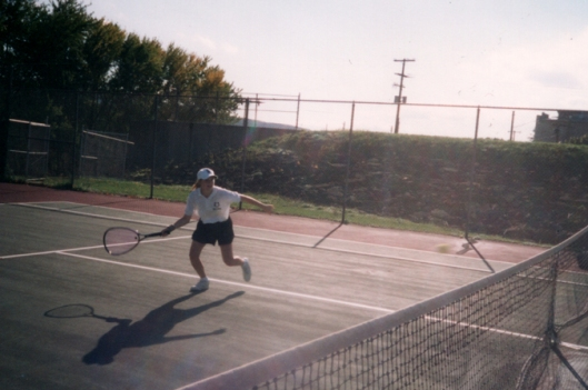 Playing singles for Union Endicott High School - 1997