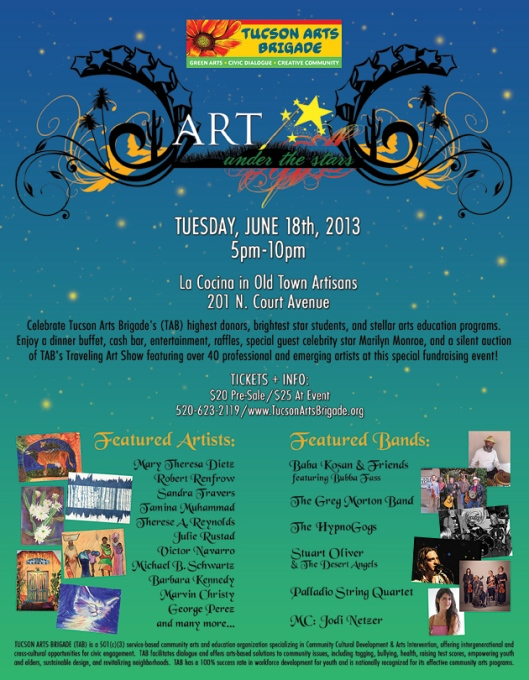 Tucson Arts Brigade Art UNder the Stars