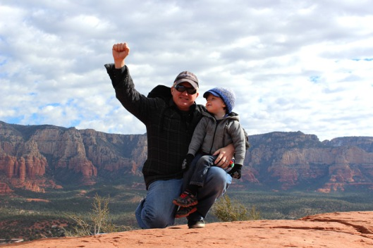 Jon and Syver in Sedona